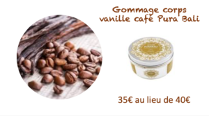 gommage vanille cafe institut Indiana